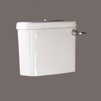AKW Close Coupled Cistern with Screw Down Lid and Lever Handle