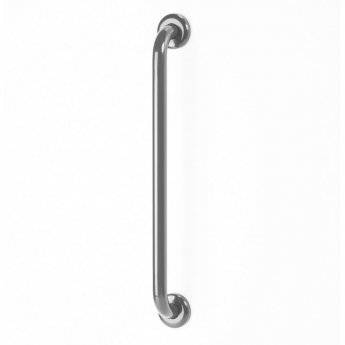 AKW Epoxy Coated Stainless Steel Grab Rail 600mm Length - Mid Grey