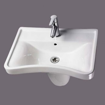 AKW Disability Concave Special Needs Basin 600mm Wide