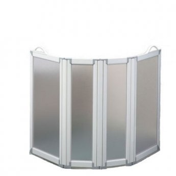 AKW Freeway 4 Panel Portable Shower Screen, 2x400mm x 2x225mm, 900mm High