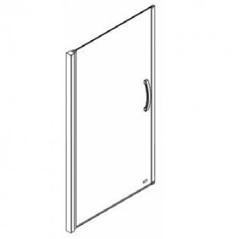 AKW Larenco Single Alcove Pivot Shower Door, 1000mm Wide, Non-Handed