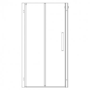 AKW Larenco Alcove Bi-Fold Shower Door, 760mm Wide, Non-Handed