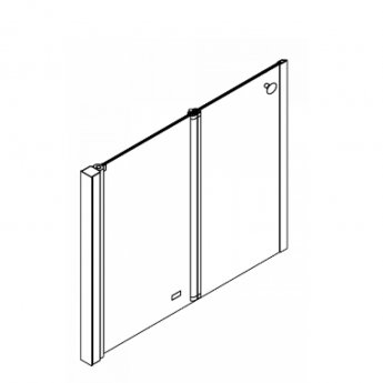 AKW Larenco Alcove Half Height Bi-Fold Shower Door 1000mm Wide - Non Handed