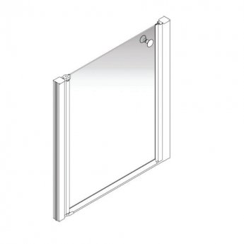 AKW Larenco Alcove Half Height Shower Door 900mm Wide - Non Handed