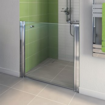 AKW Larenco Duo Care Alcove Shower Door, 800mm Wide, Non-Handed
