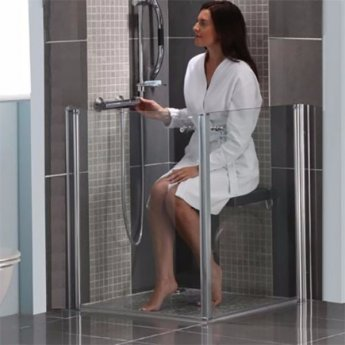 AKW Larenco Duo Care Shower Door Only, 800mm Wide, Right Handed