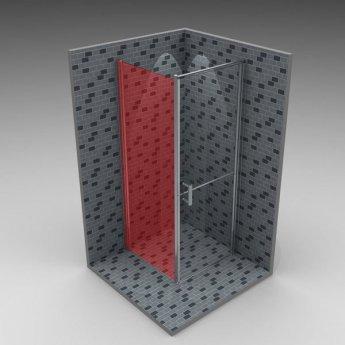 AKW Larenco Duo Fixed Panel Shower Door, 900mm Wide, Non-Handed