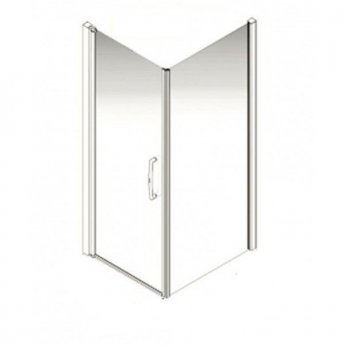 AKW Larenco Corner Full Height Hinged Shower Door with Side Panel 900mm x 900mm