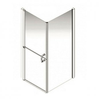 AKW Larenco Corner Full Height Duo Shower Door with Side Panel 900mm x 900mm