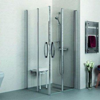 AKW Larenco Corner Full Height Double Bi-Fold Shower Door 900mm x 900mm