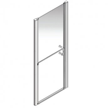 AKW Larenco Alcove Full Height Duo Shower Door 1000mm Wide - Non Handed