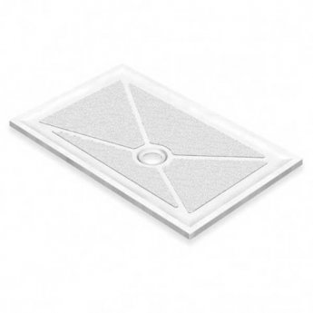AKW Low Profile Rectangular Shower Tray, 1200mm x 760mm, Non-Handed