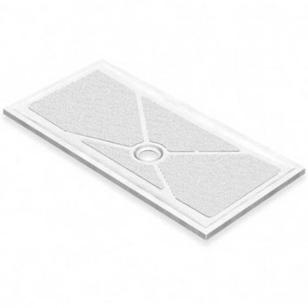 AKW Low Profile Rectangular Shower Tray, 1800mm x 700mm, Non-Handed