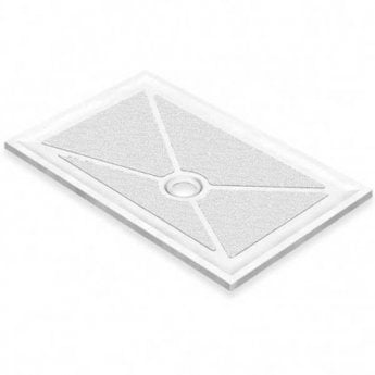 AKW Low Profile Rectangular Shower Tray, 1200mm x 820mm, Non-Handed