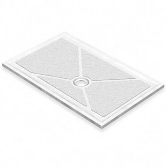 AKW Low Profile Rectangular Shower Tray, 1300mm x 820mm, Non-Handed