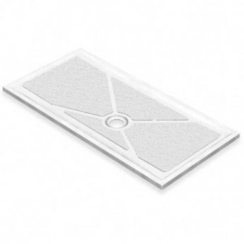 AKW Low Profile Rectangular Shower Tray, 1800mm x 820mm, Non-Handed