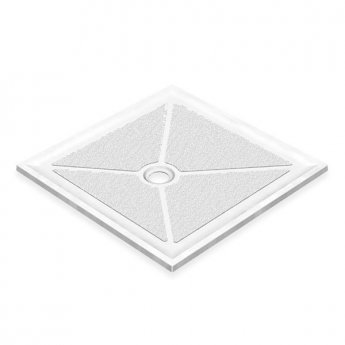 AKW Low Profile Square Shower Tray, 1000mm x 1000mm, Non-Handed