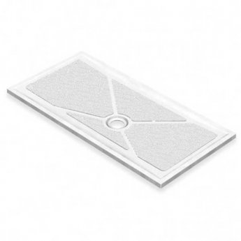 AKW Low Profile Rectangular Shower Tray with Gravity Waste 1300mm x 820mm