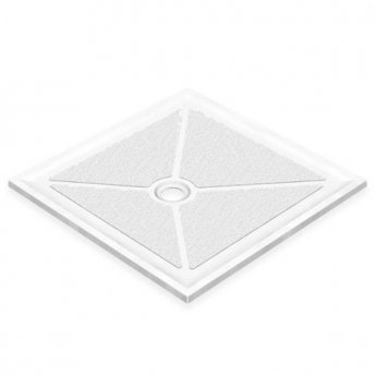 AKW Low Profile Square Shower Tray with Gravity Waste 1000mm x 1000mm