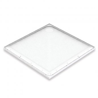 AKW Mullen Square Shower Tray with Gravity Waste 1000mm x 1000mm