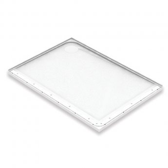 AKW Mullen Rectangular Shower Tray with Gravity Waste 1200mm x 700mm - Left Handed