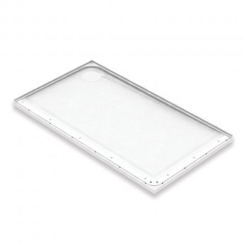 AKW Mullen Rectangular Shower Tray with Gravity Waste 1300mm x 820mm - Left Handed