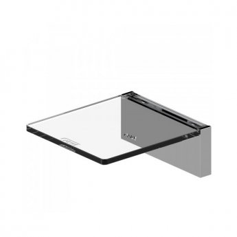 AKW Onyx Small Acrylic Shelf 100mm Wide - Chrome
