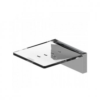 AKW Onyx Square Soap Dish Wall Mounted - Chrome