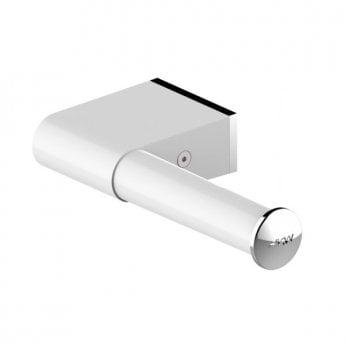 AKW Onyx Toilet Roll Holder - White/Chrome