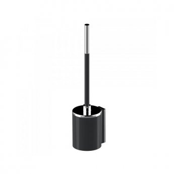 AKW Onyx Toilet Brush - Black/Chrome
