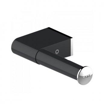 AKW Onyx Toilet Roll Holder - Black/Chrome