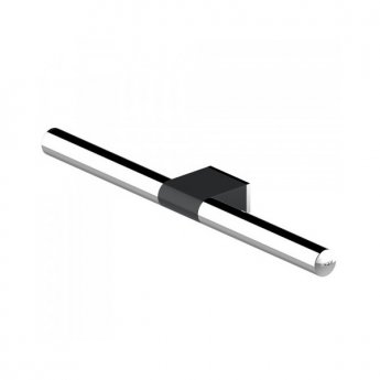 AKW Onyx Towel Bar 480mm - Black/Chrome