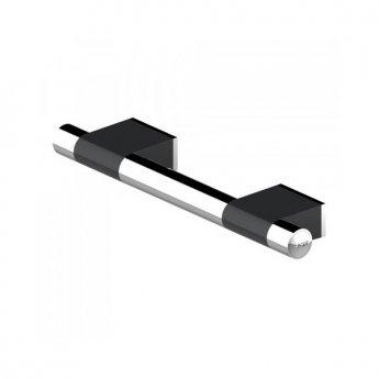 AKW Onyx Duo Straight Grab Rail 300mm Length - Black/Chrome