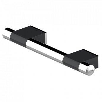AKW Onyx Duo Straight Grab Rail 450mm Length - Black/Chrome