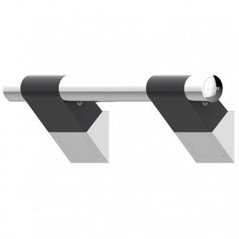 AKW Onyx 45 Duo Straight Grab Rail 300mm Length - Black/Chrome