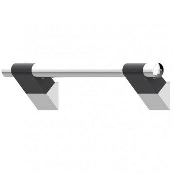 AKW Onyx 45 Duo Straight Grab Rail 450mm Length - Black/Chrome