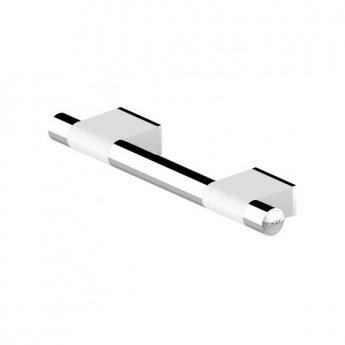 AKW Onyx Duo Straight Grab Rail 300mm Length - White/Chrome
