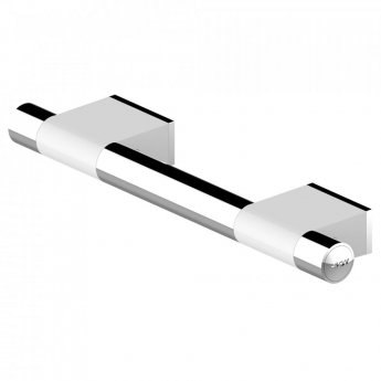 AKW Onyx Duo Straight Grab Rail 450mm Length - White/Chrome