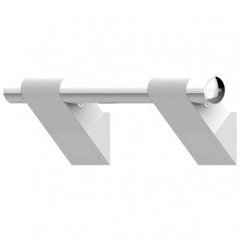 AKW Onyx 45 Duo Straight Grab Rail 300mm Length - White/Chrome