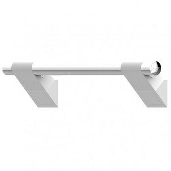 AKW Onyx 45 Duo Straight Grab Rail 600mm Length - White/Chrome
