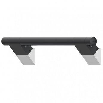 AKW Onyx 45 Straight Grab Rail 600mm Length - Black