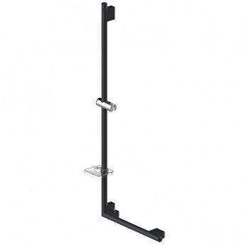 AKW Onyx L-Shape Grab Rail 1200mm x 450mm - Black