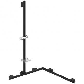 AKW Onyx Option 2 Stainless Steel Angled Grab Rail - Black