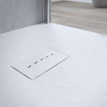 AKW Onyx Rectangular Shower Tray 1800mm x 900mm - White