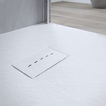AKW Onyx Square Shower Tray 900mm x 900mm - White