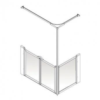 AKW Option C 900 Shower Screen 1050mm x 1050mm - Left Handed