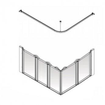 AKW Option EW5 750 Shower Screen 1300mm x 820mm - Left Handed