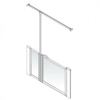 AKW Option J 750 Shower Screen, 750mm x 1350mm, Left Handed