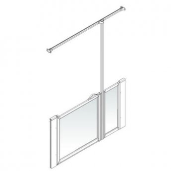 AKW Option J 900 Shower Screen, 700mm x 1300mm, Right Handed