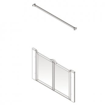 AKW Option M 900 Shower Screen, 1350mm Wide, Non-Handed